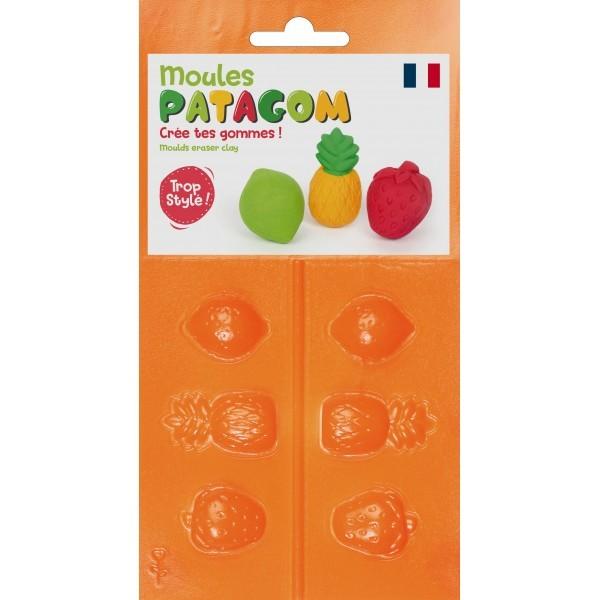 Moule 3 motifs Fruits - Patagom Eraser Clay moulds DTM Graine Créative 262455 - Photo n°1