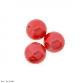 Perles en verre nacrées Rouge - 10 mm - 10 pcs