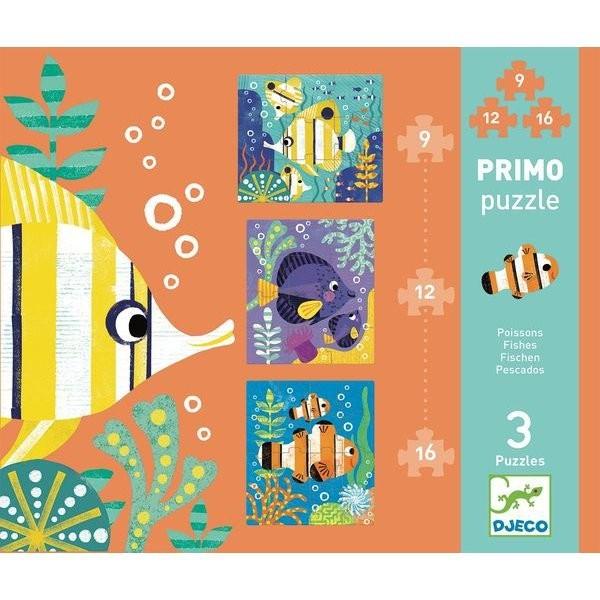 Puzzles évolutifs Primo - Les Poissons (9 à 15 pièces) - Photo n°1