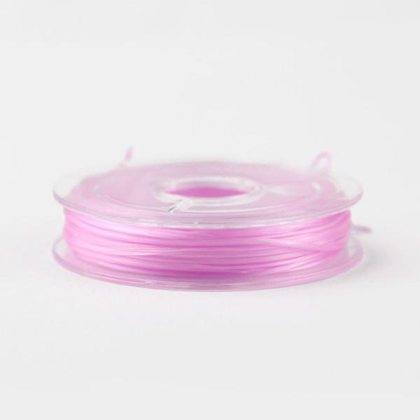 Bobine de fil Nylon Elastique 0,8mm Rouge environ 10m creation bijoux Bracelet
