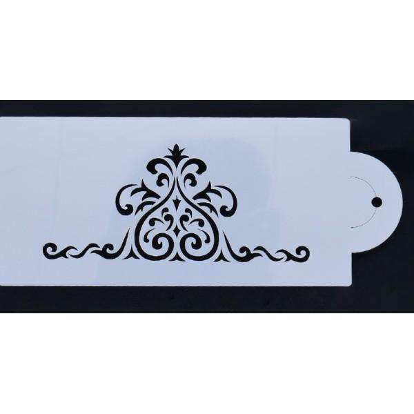 POCHOIR PLASTIQUE 21*10cm : motif antique (13) - Photo n°1