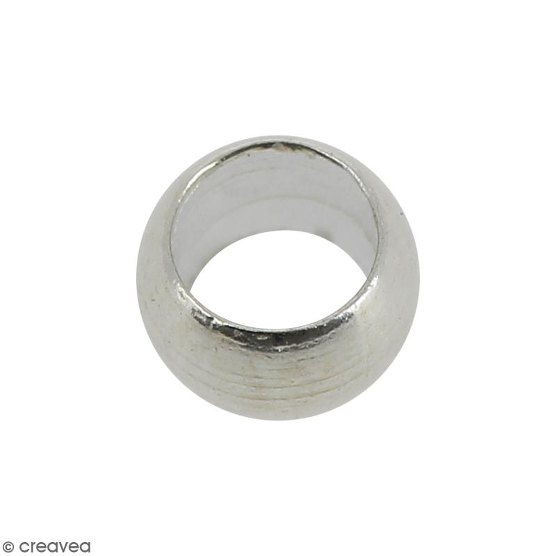 Perles à écraser - Métal argenté - 3 mm - 50 pcs - Photo n°1