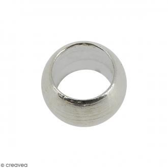 Perles à écraser - Métal argenté - 3 mm - 50 pcs