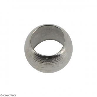 Perles à écraser - Métal argenté vieilli - 3 mm - 50 pcs