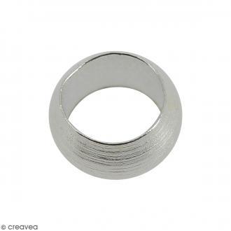 Perles à écraser - Métal argenté - 4 mm - 50 pcs