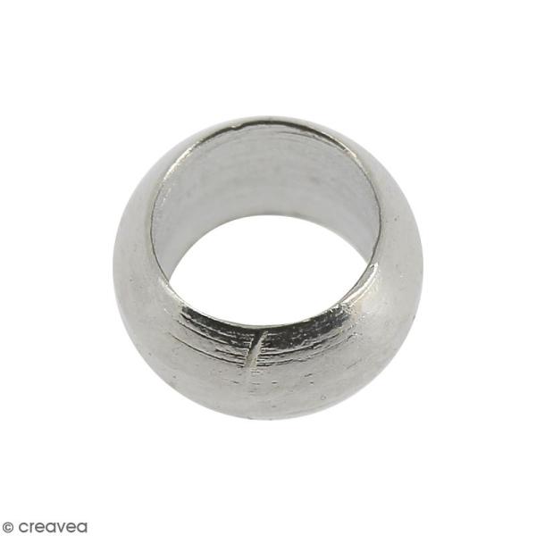 Perles à écraser - Métal argenté vieilli - 4 mm - 50 pcs - Photo n°1