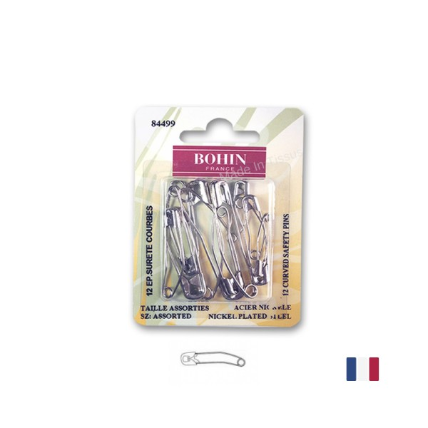 Epingles de sureté courbes Bohin - Photo n°1