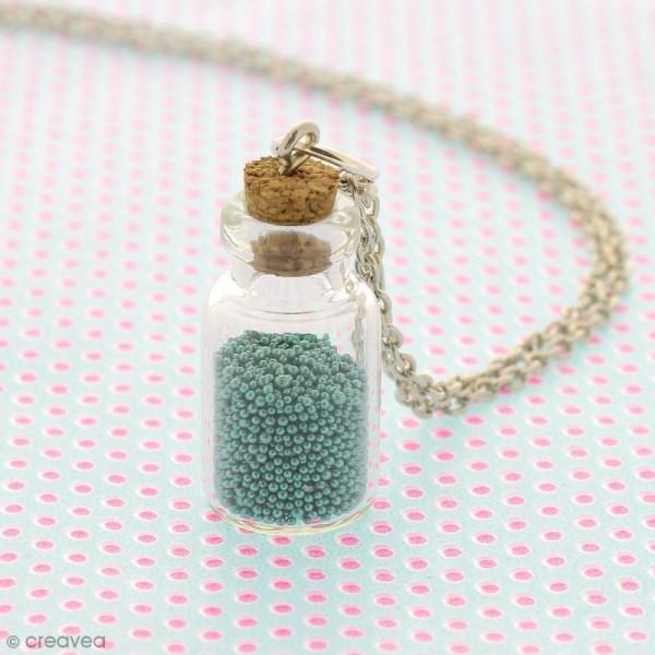 Mini flacon en verre avec bouchon liège - 23 x 13 mm - Photo n°3