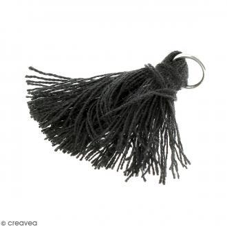 Pendentif Pompon noir - 25 mm