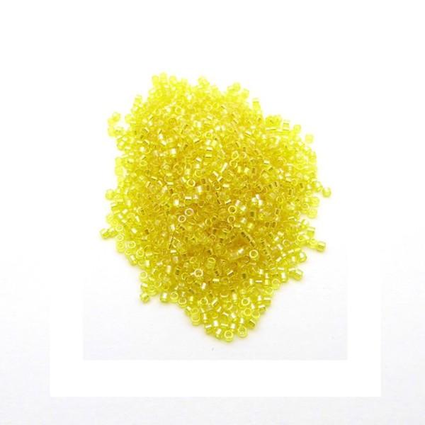 Perles miyuki delica 11/0 Tpt Yellow AB DB0171 par 10 grammes - Photo n°1