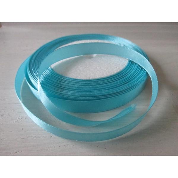 2 mètres de ruban satin largeur de 10 mm 1 cm Couleur Bleu clair
