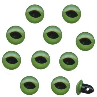 Yeux de chat fixes en plastique 1 cm x 10