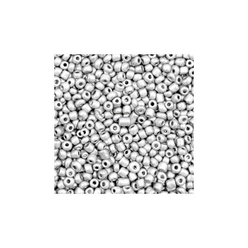 12//0 en Verre Opaque Nacré Or 20g Perles de Rocaille Rondes  2mm