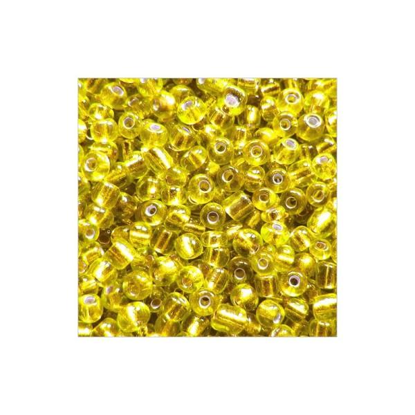 Perles de Rocailles en verre Opaque 2mm Jaune 20g 12//0