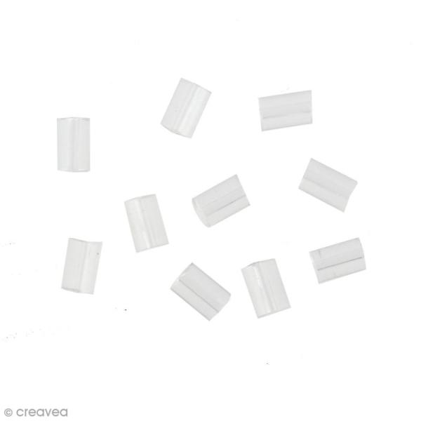 Stoppeurs cylindres pour boucles d'oreilles - Transparent - 10 pcs - Photo n°1