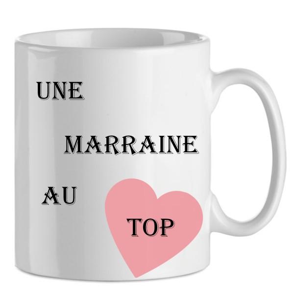 Mug Une Marraine Au Top En Céramique, Idée Cadeau Marraine, Noël, Anniversaire - Photo n°1