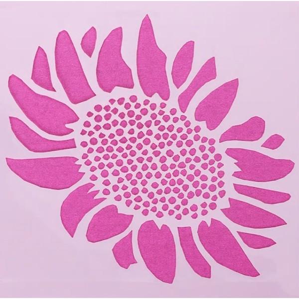 POCHOIR PLASTIQUE 13*13cm : fleur (05) - Photo n°1