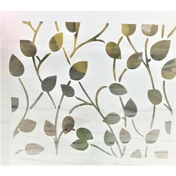 POCHOIR PLASTIQUE 13*13cm : feuilles (06) - Photo n°1