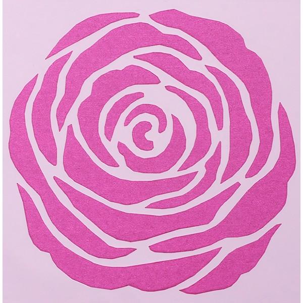 POCHOIR PLASTIQUE 13*13cm : fleur (04) - Photo n°1