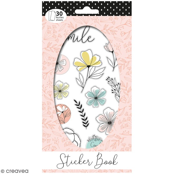 Carnet de stickers Good vibes - Planner - 30 pages - Photo n°1