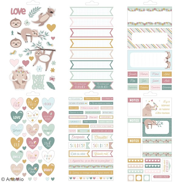 Carnet de stickers No stress - Planner - 30 pages - Photo n°3
