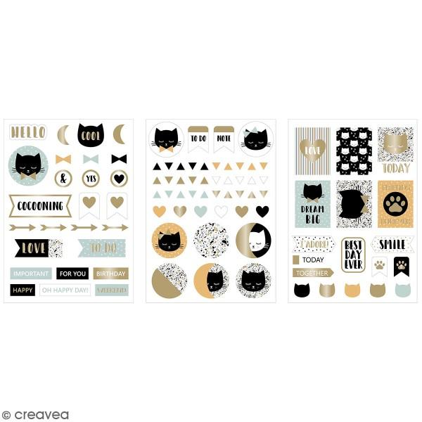 Stickers fantaisie cartonnés - Terrazzo cat - 90 pcs - Photo n°1