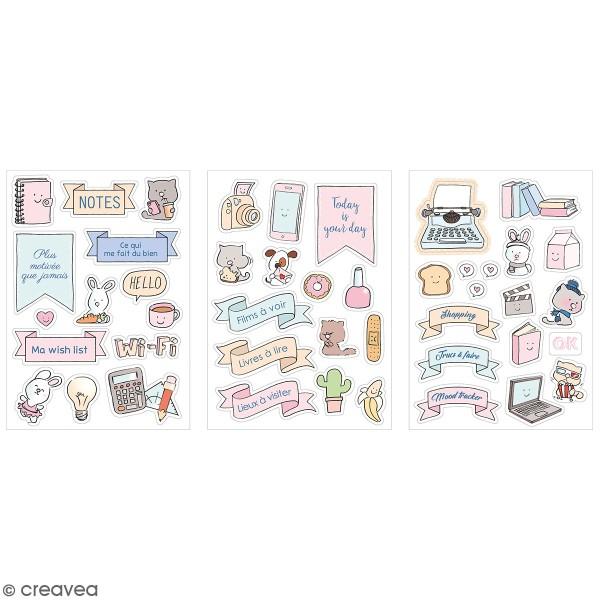 Stickers fantaisie cartonnés - So cute - 45 pcs - Photo n°1
