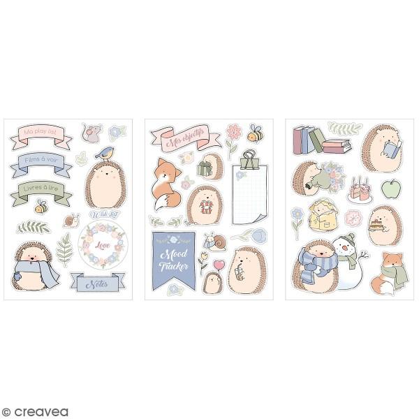 Stickers fantaisie cartonnés - Amstramgram - 45 pcs - Photo n°1