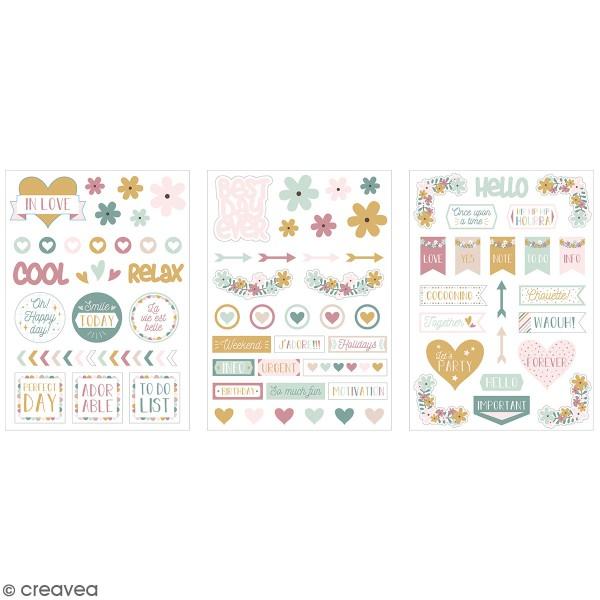 Stickers fantaisie cartonnés - No stress - 85 pcs - Photo n°1