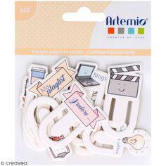 Marque-pages en carton Artemio - So cute - 15 pcs