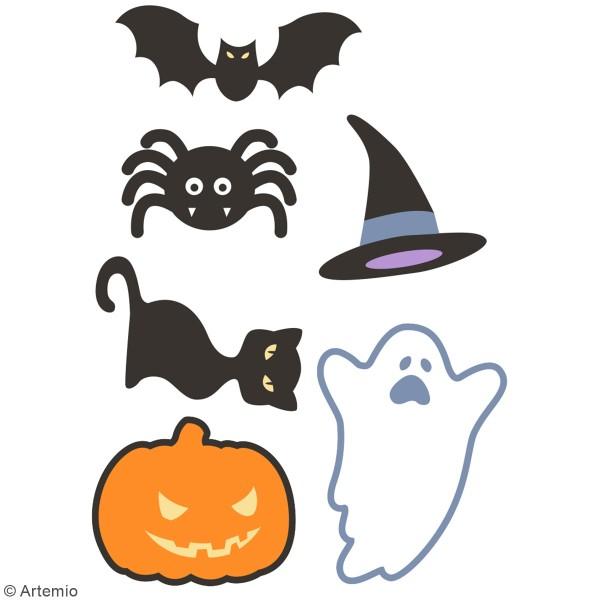 Stickers 3D en caoutchouc Artemio - Halloween - 6 pcs - Photo n°1