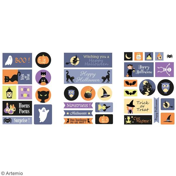 Stickers papier - Halloween - 72 pcs - Photo n°2