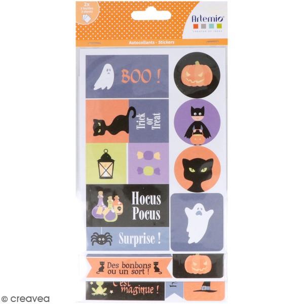 Stickers papier - Halloween - 72 pcs - Photo n°1
