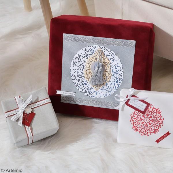 Papier Scrapbooking Artemio - Barok Foil argenté- 30,5 x 30,5 cm - 30 pcs - Photo n°2