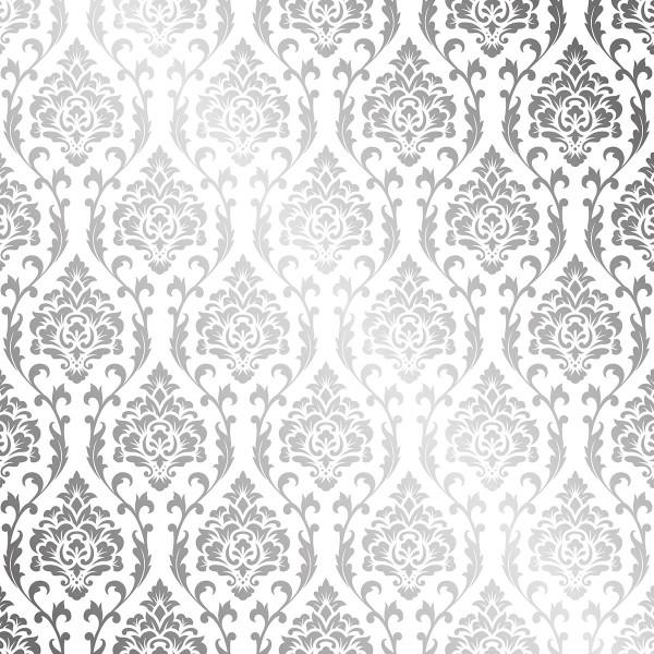 Papier Scrapbooking Artemio - Barok Foil argenté- 30,5 x 30,5 cm - 30 pcs - Photo n°3