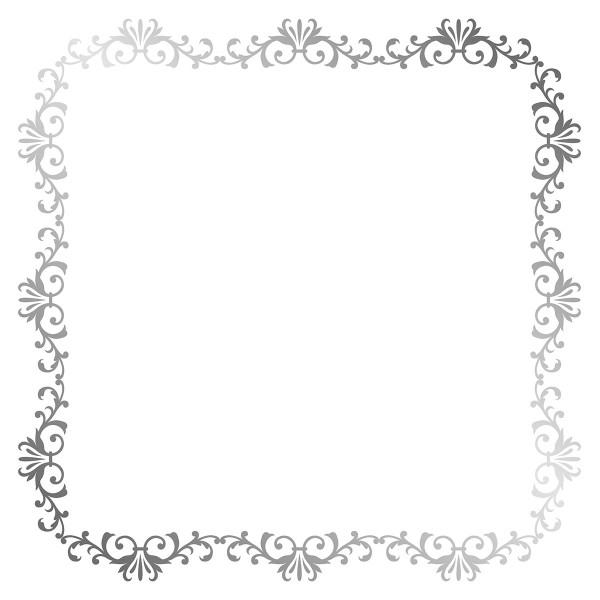 Papier Scrapbooking Artemio - Barok Foil argenté- 30,5 x 30,5 cm - 30 pcs - Photo n°4