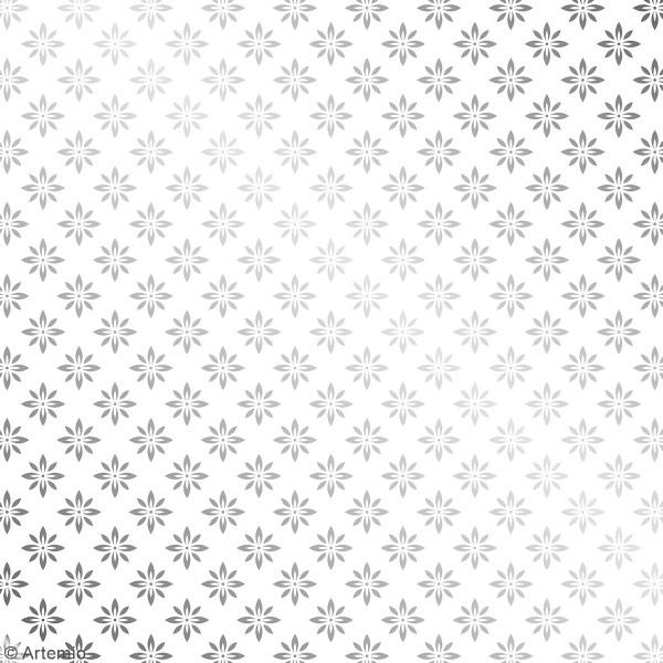 Papier Scrapbooking Artemio - Barok Foil argenté- 30,5 x 30,5 cm - 30 pcs - Photo n°5