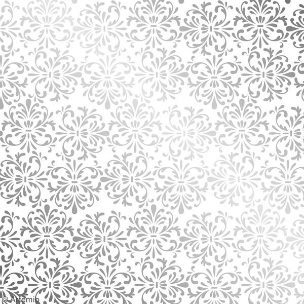 Papier Scrapbooking Artemio - Barok Foil argenté- 30,5 x 30,5 cm - 30 pcs - Photo n°6