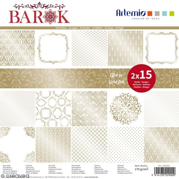 Papier Scrapbooking Artemio - Barok - 30,5 x 30,5 cm - 30 pcs - Photo n°1