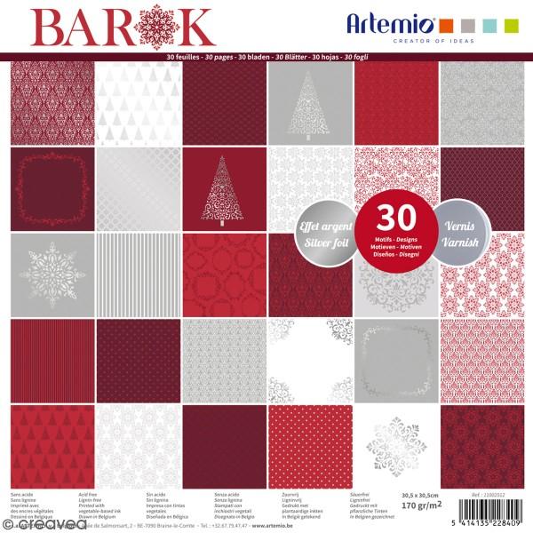 Papier scrapbooking Artemio - Barok - 30,5 x 30,5 cm - 30 feuilles - Photo n°1