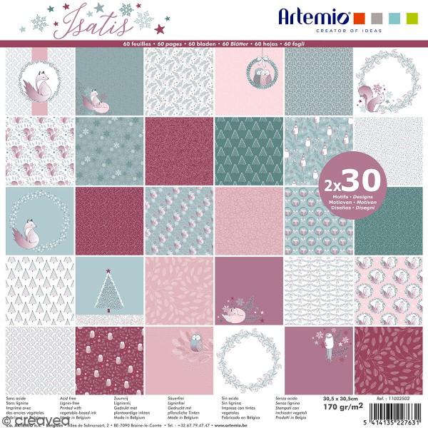 Papier scrapbooking Artemio - Isatis - 30,5 x 30,5 cm - 60 feuilles - Photo n°1