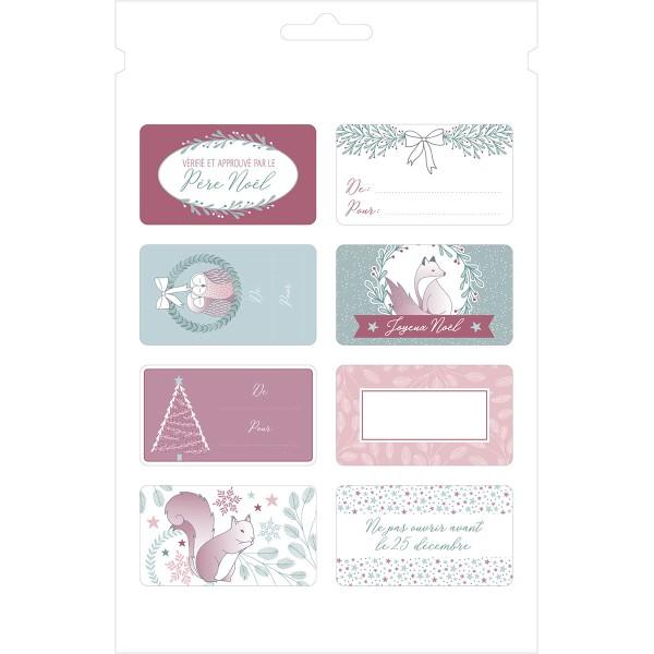 Kit enveloppes, étiquettes et autocollants cadeaux Artemio - Collection Isatis - 97 pcs - Photo n°4