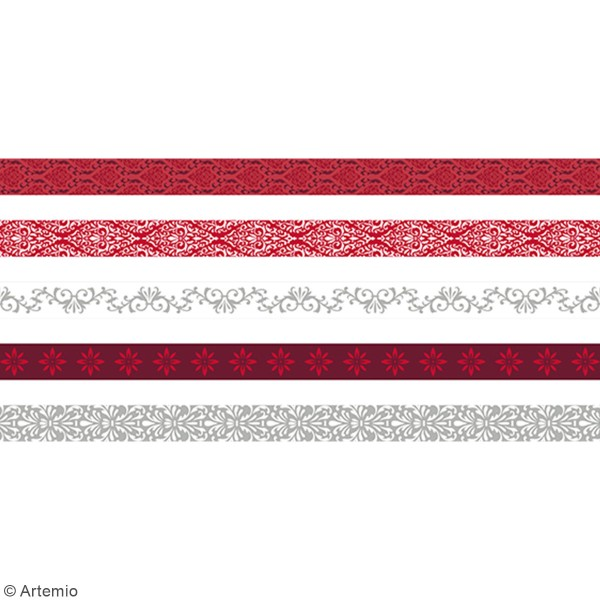 Masking Tape Artemio - Barok - 1,5 cm x 5 m - 5 pcs - Photo n°2