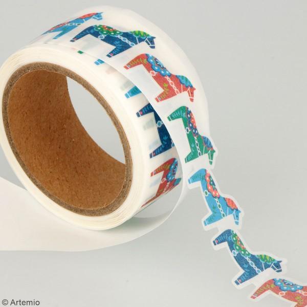 Masking tape découpé Artemio - Folk - 13/23 mm x 5 m - 2 pcs - Photo n°3
