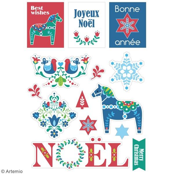 Stickers fantaisie cartonnés - Folk - 33 pcs - Photo n°2