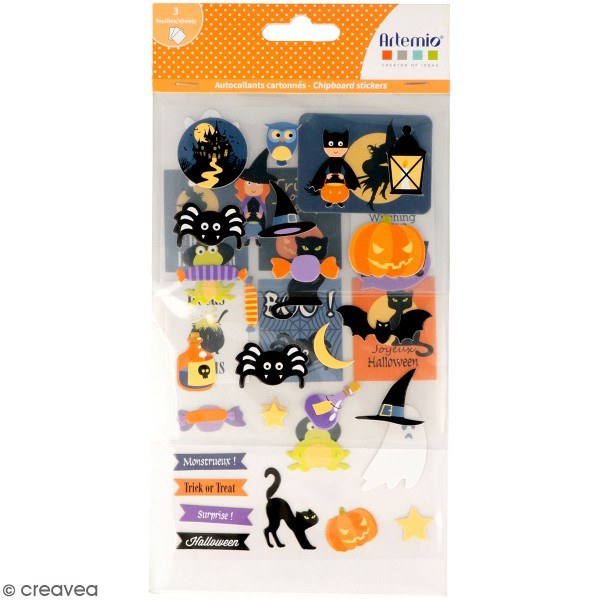 Stickers fantaisie cartonnés - Halloween - 41 pcs - Photo n°1