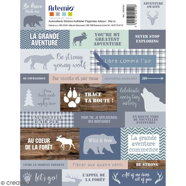 Stickers Artemio - Woodland - 64 autocollants - Photo n°1