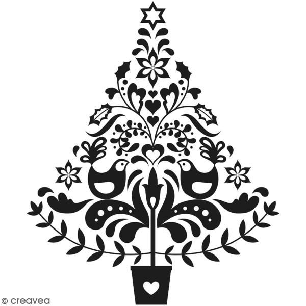Tampon Bois Artemio Folk - Sapin de Noël - 7,5 x 6,5 cm - Photo n°1
