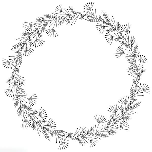 Tampon Bois Artemio Isatis - Couronne - 10 x 10 cm - Photo n°1