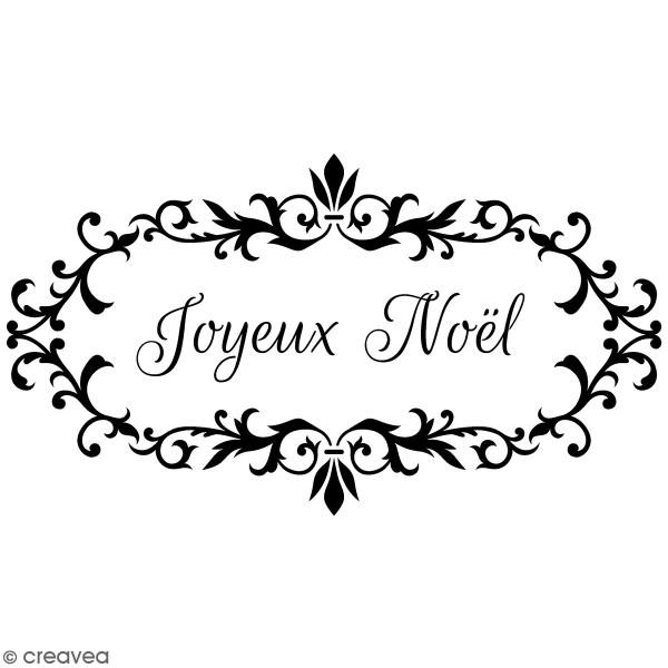 Tampon Joyeux Noel Tampon Bois Artemio Barok   Joyeux Noël   4,5 x 7 cm   Tampon bois